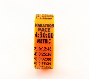 Metric Marathon Paceband 4:30 Orange/Black