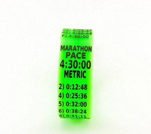 Metric Marathon Paceband 4:30 Green/Black
