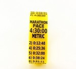 Metric Marathon Paceband 4:30 Yellow/Black