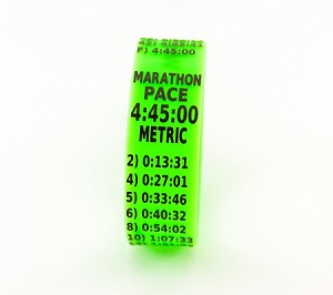 Metric Marathon Paceband 4:45 Green/Black