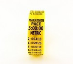 Metric Marathon Paceband 5:00 Yellow/Black
