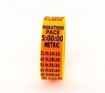 Metric Marathon Paceband 5:00 Orange/Black