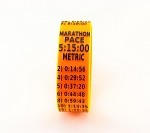 Metric Marathon Paceband 5:15 Orange/Black