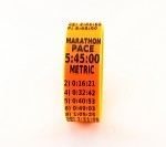Metric Marathon Paceband 5:45 Orange/Black