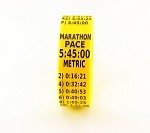 Metric Marathon Paceband 5:45 Yellow/Black