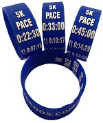 5k Paceband 18:00 Blue/White