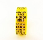 Metric Marathon Paceband 6:00 Yellow/Black