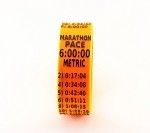 Metric Marathon Paceband 6:00 Orange/Black