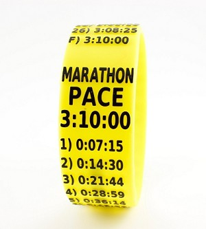 Marathon Paceband 3:10 Yellow/Black