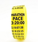 Marathon Paceband 3:20 Yellow/Black