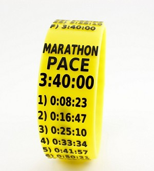 Marathon Paceband 3:40 Yellow/Black