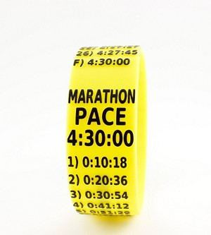 Marathon Paceband 4:30 Yellow/Black