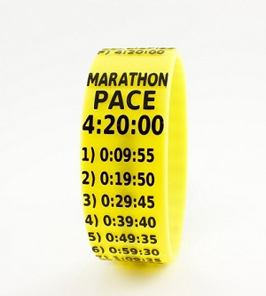 Marathon Paceband 4:20 Yellow/Black