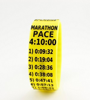 Marathon Paceband 4:10 Yellow/Black