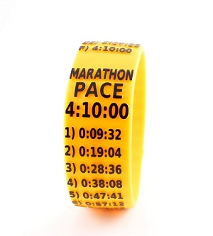 Marathon Paceband 4:10 Orange/Black