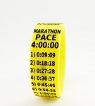Marathon Paceband 4:00 Yellow/Black
