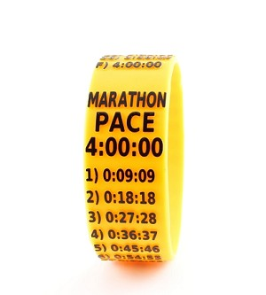 Marathon Paceband 4:00 Orange/Black