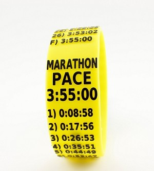 Marathon Paceband 3:55 Yellow/Black