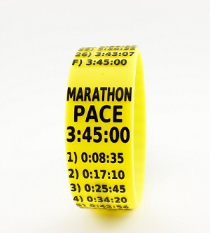 Marathon Paceband 3:45 Yellow/Black