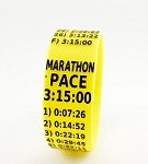 Marathon Paceband 3:15 Yellow/Black
