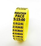 Marathon Paceband 5:15 Yellow/Black