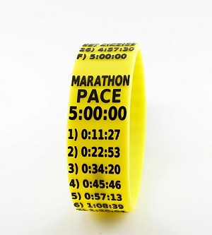 Marathon Paceband 5:00 Yellow/Black