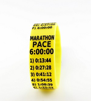 Marathon Paceband 6:00 Yellow/Black