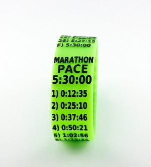 Metric Marathon Paceband 5:30 Green/Black