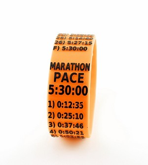 Metric Marathon Paceband 5:30 Orange/Black