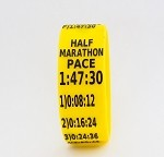 Half Marathon Paceband 1:47:30 Yellow/Black