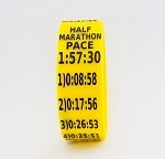 Half Marathon Paceband 1:57:30 Yellow/Black