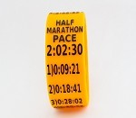 Half Marathon Paceband 2:02:30 Orange/Black