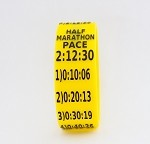 Half Marathon Paceband 2:12:30 Yellow/Black