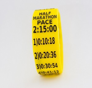 Half Marathon Paceband 2:15 Yellow/Black