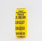 Half Marathon Paceband 2:30 Yellow/Black
