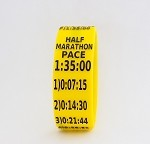 Half Marathon Paceband 1:35 Yellow/Black