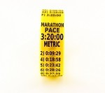 Metric Marathon Paceband 3:20 Yellow/Black