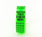 Metric Marathon Paceband 5:00 Green/Black